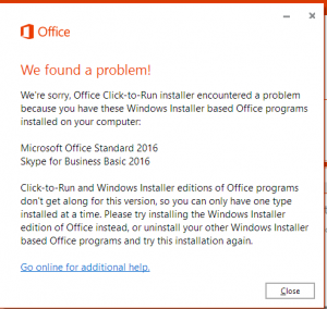 Upgrading from MSI-based Office Installations to Office 365 Click-2